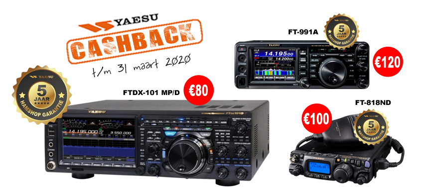 Yaesu cashback 31-03-20